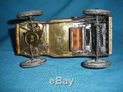 590A Lehmann Germany Tut Tut Jouet ancien mécanique 1903 Tacot Tôle L 17 cm