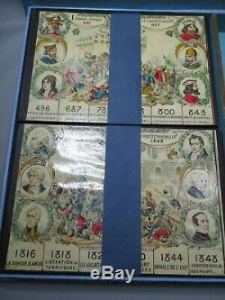 Ab391 Rare Jeu Saussine L'histoire De France Debut 1900 Loto Superbe Etat Rare