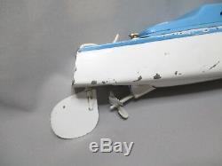 Ai539 Jep Rare Canot Ruban Bleu N°1 Moteur Electrique Bateau Bon Etat