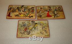 Ancien Jeu De Loto Anime (a Systeme), Mobile, Scenes Humoristiques Annees 1910