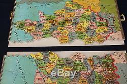 Ancien Jeu puzzle bois La FRANCE par départements patience géographie 5142 XIX