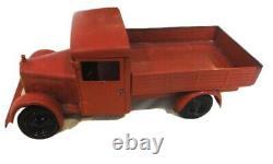 Ancien Jouet Tole camion benne renault cij
