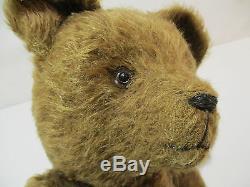 Ancien Ours Pintel Peluche Articule Mecanisme Teddy Bear Jeu Jouet Old Toys