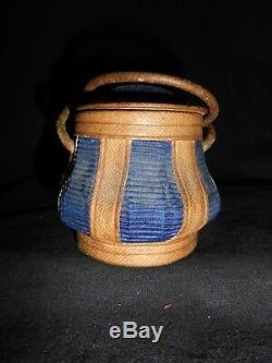 Ancien Rare Petit Panier De Poupée Art Populaire Antique Old Small Doll Basket
