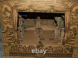 Ancien Theatre Français lithographie EPINAL /bois jardins Luxembourg + decor
