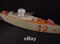 Ancien bateau navire de guerre cuirassé bois mécanique Le Terrible 1920 CIJ