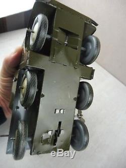 Ancien camion militaire porte canon, en tôle, Joustra, Made in France, ref. 701