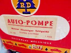 Ancien camion tole4 pompiers Paris teleguidé JRD(an50/60) boite origine/CIJ JEP