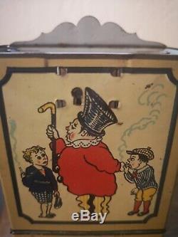 Ancien distributeur de cigarettes chocolat pour enfants années 1910 complet