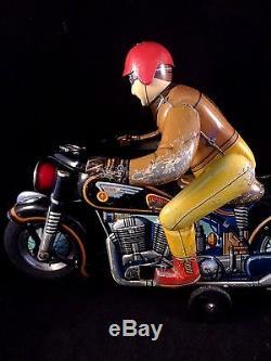 Jouet Ancien Masudaya Moto Harley Rare Davidson Et Toys Atom Tôle nNmw80