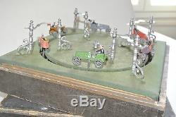 Ancien jeu de comptoir MJ & Cie à course voitures race car toy