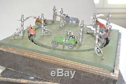 Ancien jeu de comptoir MJ & Cie à course voiturez voitures race car toy