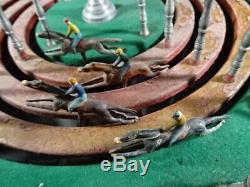 Ancien jeu de course chevaux de comptoir marque J J 4 pistes début XXéme