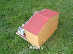 Ancien jouet école bois classe papier mâché enfants globe terrestre Bon Dufour