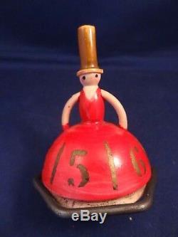 Ancien jouet toupie comptoir café danseuse SIC Société industrielle Celluloïd 20