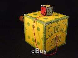 Ancien rare jouet Bilboquet Le Dé Dé Jeu d'adresse patience en boîte 1920 MG