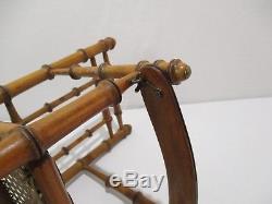 Ancienne Petite Chaise Haute De Poupee Jouet En Bois Facon Bambou Old Toys Doll