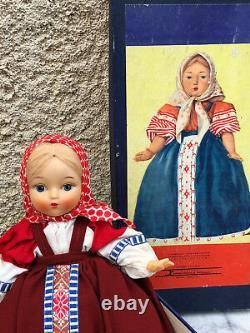 Ancienne Poupée Russe Antique Doll Russian Dans sa Boîte Jouet Ancien