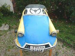 Ancienne Voiture A Pédale Tôle Mg Citroen Ds Morellet Guerineau 1960 Pedal Car