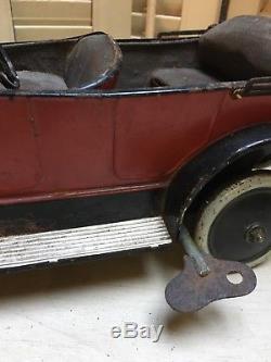 Ancienne Voiture Citroën Torpedo Jouet Ancien 37 cm