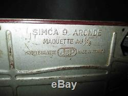 Ancienne grande voiture filoguidée Simca 9 Aronde 1/15 JEP milieu XX ème
