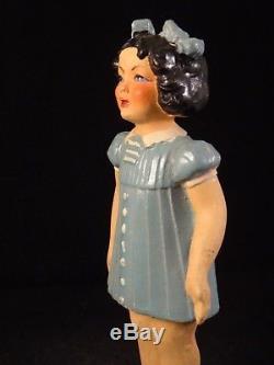 Ancienne rare poupée fillette terre de pipe composition France années 30 Gégé