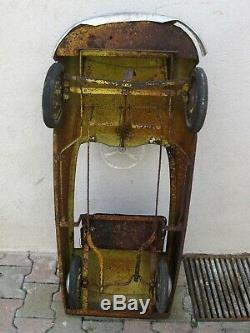 Ancienne voiture à pédales MG CITROEN DS 1960 pedal car morellet guerineau jouet