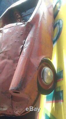 Ancienne voiture à pédales enfant CITROEN DS 1960, jouet, moto, cyclo, no émaillé
