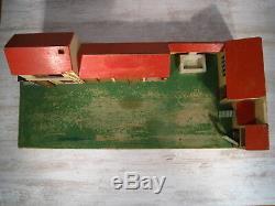 Antique jouet Corps de Ferme en bois fait main artisanal old wooden farm toy