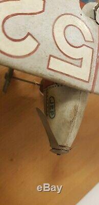 Avion JEP F252 tôle jouet ancien vintage mécanique + clef