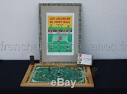 B433 Rare ancien jeu H. B. LES JOUEURS DE FOOT BALL 1946 Football ballon