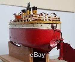 Bateau Paquebot Jep Avec Sa Clef D'origine 1935 Moteur Ok