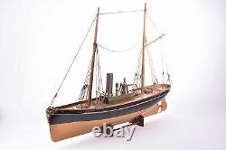 Bateau Radiguet, bateau civil à deux mâts grées. 55 cm