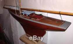 Bateau Voilier De Bassin Mfp Nova Acajou