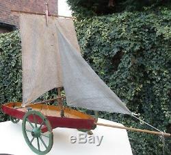 Bateau de Bassin pond yacht voilier boat 1910 Sand yacht BVO 100cm