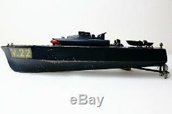 Bateau mécanique en tôle CANOT JRD V22 vedette rapide Lance torpilles