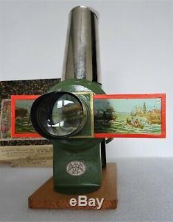 Beau et rare coffret lanterne magique ernst plank circa 1880