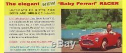Bimboracer Baby Ferrari Racer V12 Rarissime Voiture D'enfant Electrique Italie