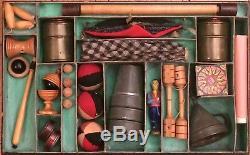 Boîte de physique amusante magie escamotage prestidigitation c1860