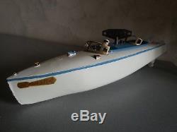 CANOT AUTOMOBILE DE COURSE JEP 915-2 RUBAN BLEU N° 2 en Tole 1962 BATEAU