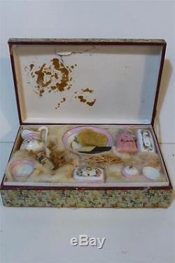 cbg n cessaire toilette porcelaine poup e boite accessoire jouet ancien xixeme
