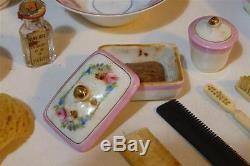 CBG nécessaire toilette porcelaine poupée boite accessoire jouet ancien XIXeme