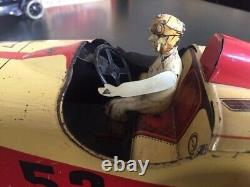 CR Charles Rossignol Racer n°52 voiture de course jouet ancien tole