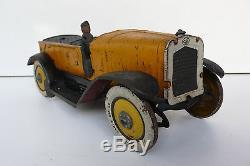 C R TORPEDO RENAULT JOUET TÔLE PEINTE Lg 23 cm REF 827 1928 À RESTAURER