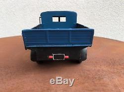Camion Jouet Ancien Renault Transport Nez De Cochon Cij Tôle Mécanique