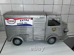 Camion ancien tole mecanique CITROEN HY pub esso JRD france années 50 long 35 c
