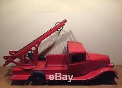 Camion de pompier Citroen T45 des Jouets JRD avec échelle son pompier