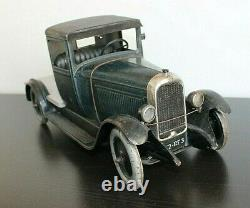 Camion plateau 1930 Citroen C4 original 40 cm jouet mécanique ancien en tole