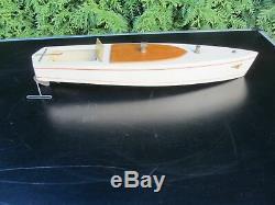 Canot de bassin Kellner ancien 1950 bateau bois mécanique