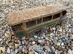 Charles Rossignol CR Trocadero Omnibus Jouet Ancien Tole Autobus tramway